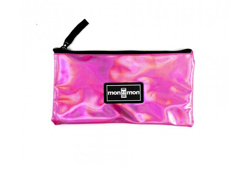 Foil Pencil Case Pink
